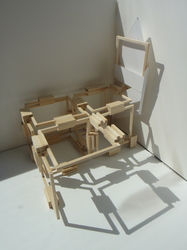 Tongji Philip Qian Bound by Architectural Reality Sculpture made of basswood and Bristol board