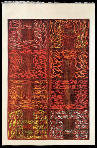 Tongji Philip Qian Recent Works in Reverse Chronological Order Woodblock print (reduction)