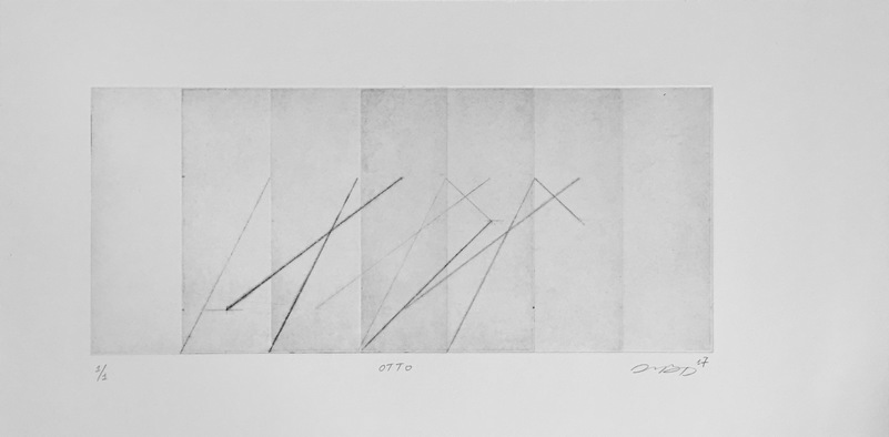 Tongji Philip Qian Recent Works in Reverse Chronological Order Intaglio print