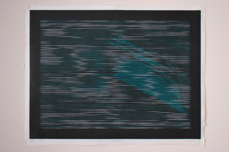 Tongji Philip Qian recent works Woodblock print (reduction)