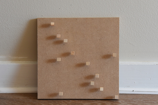 Tongji Philip Qian Das Leben Der Push pins on MDF board